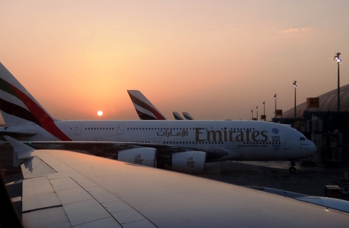 Sunrise Dubai Airport Nov 2013