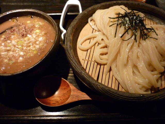 牛と茄子と香味油のつけ麺