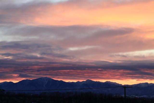 026日高山脈の夕景