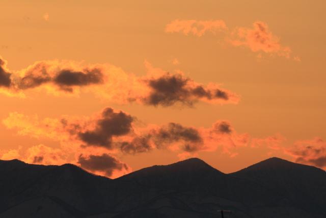 041日高山脈シルエット