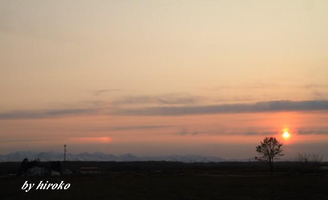 232日高山脈の夕景