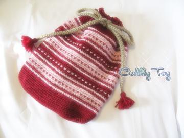 小さなハートの編み編みこもの♪
