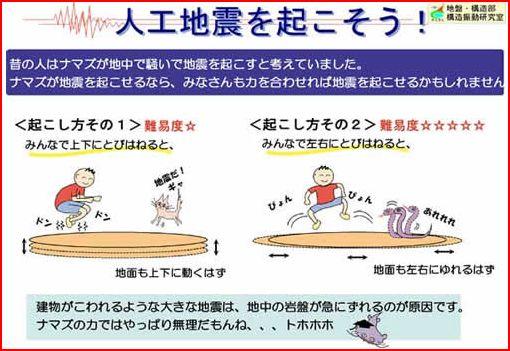 人工地震の起こし方