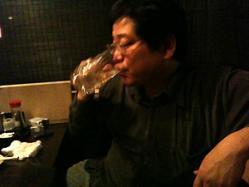飲んでまーす。