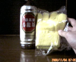 ウーロン茶とのびのび手袋