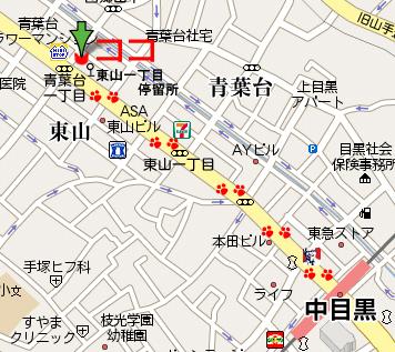 キャットケアハウスの地図