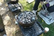 オムライス蓋に木炭