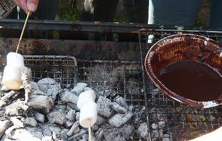 マシュマロ焼きチョコ