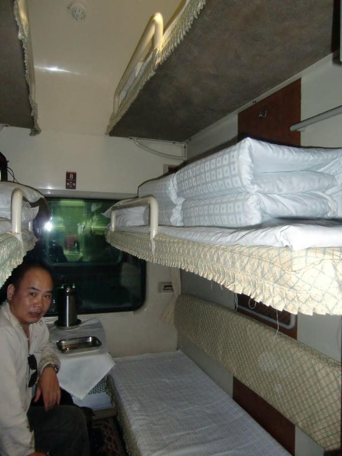 チベット鉄道車内(硬臥)