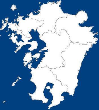 諸島を除く九州本体(日本語がおかしい)