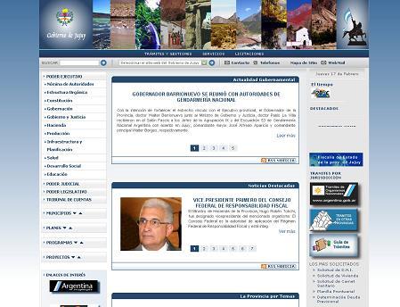アルゼンチン・フフイ州のオフィシャルサイト