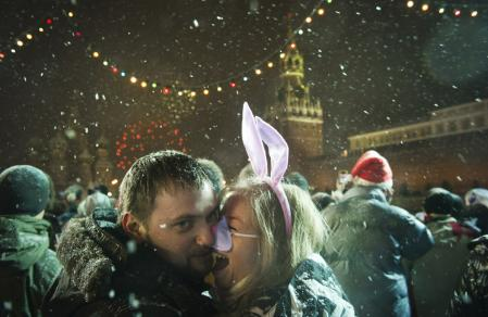 A New Year rolls in_Moscow