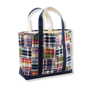 L.L.Bean_Patchwork Madras Tote