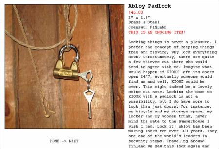 KIOSK_Abloy Padlock