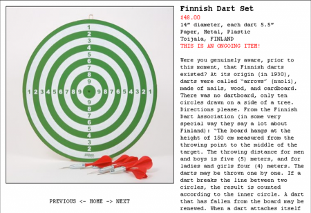 KIOSK_Finnish Dart Set