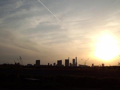20130404 夕日を射る