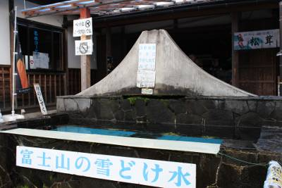 富士山の雪どけ水