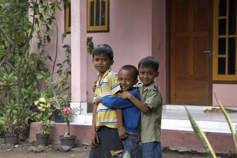 バリ島の少年たち