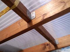 ウッドデッキ屋根2