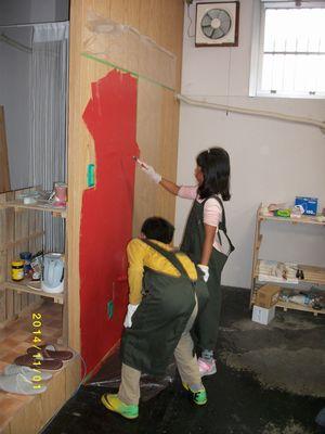 子供壁塗①