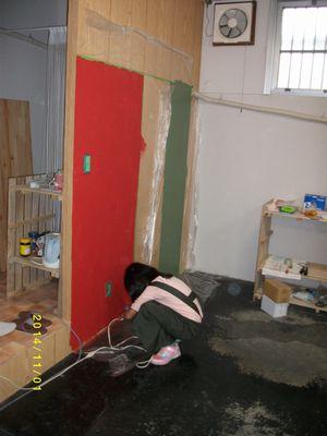 子供壁塗②