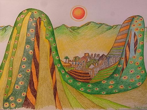 二元性の冬至(Winter solstice of duality)Machu Pichu in Peru