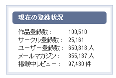 DLサイト Maniax登録作品10万突破!