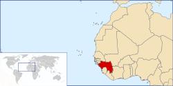 ギニアの位置