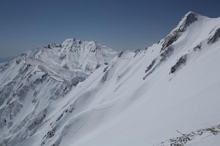 雪壁と五竜