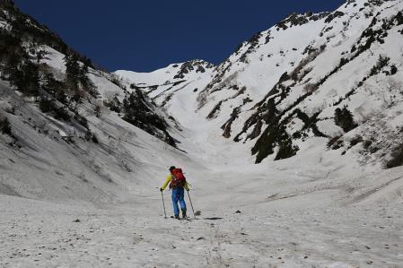 針ノ木雪渓を行く その2