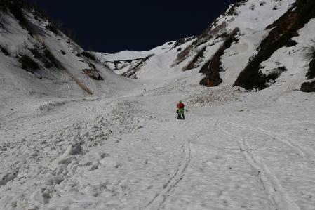 針ノ木雪渓を行く その3