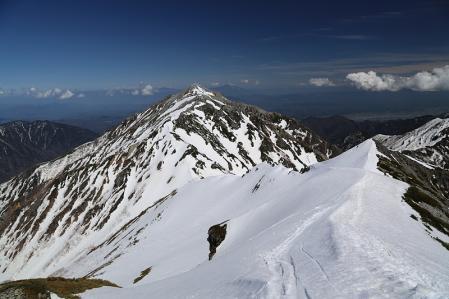 蓮華岳への道
