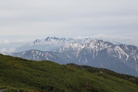 この日の一番は乗鞍&霞沢岳の展望