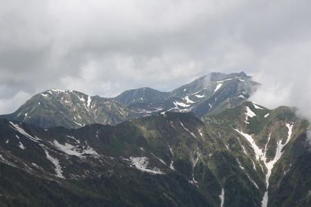 木曽駒方面はほとんどガスで見えなかった