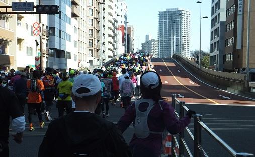 佃大橋上り口(36kmあたり)