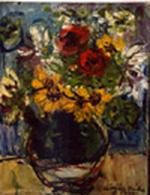飾り花瓶と花