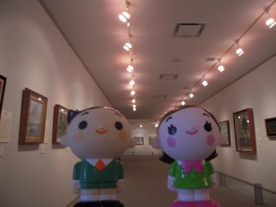 タローとハナコin展示室