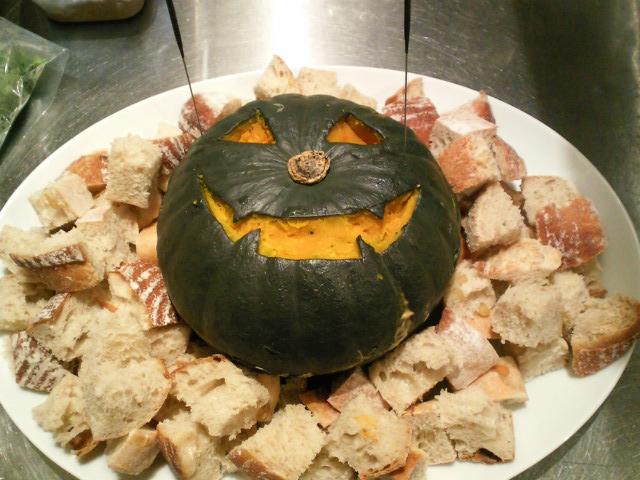 かぼちゃフォンデュ