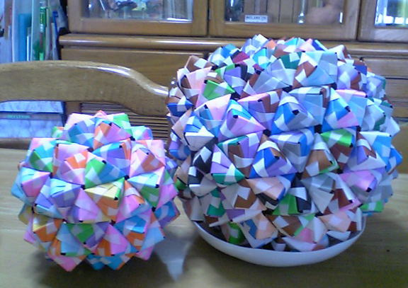 すべての折り紙 千羽鶴用折り紙 : ... なし・自遊帳 折り紙くすだま