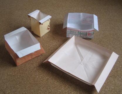 簡単 折り紙:折り紙 箱 チラシ-ecodokechi.blog.fc2.com