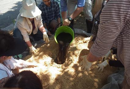 菌床づくり1