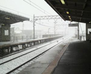 雪景色なジモ駅