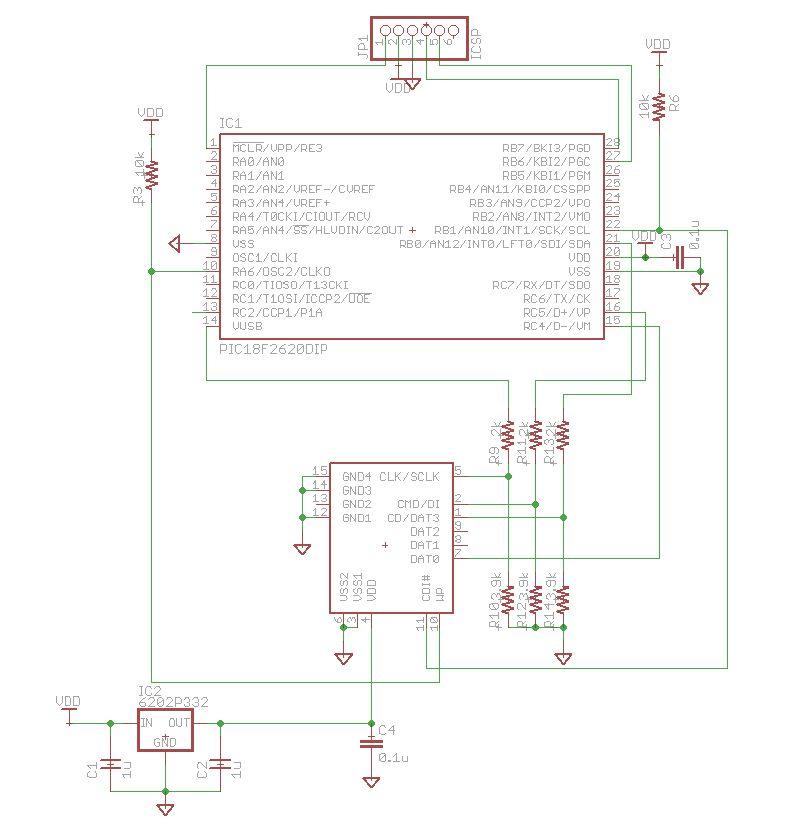 SDカードテスト回路図