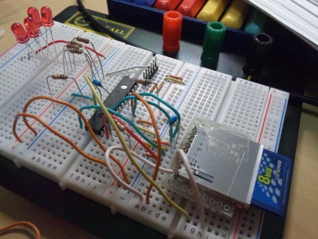 SDカードブレッドボード