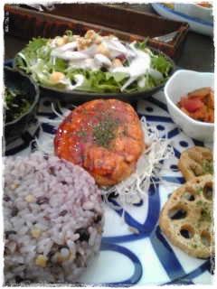 雑穀米ランチプレート
