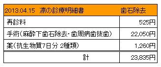 凛 2013.04.15診療明細書