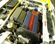 ブルーエンジンヘッドカバー