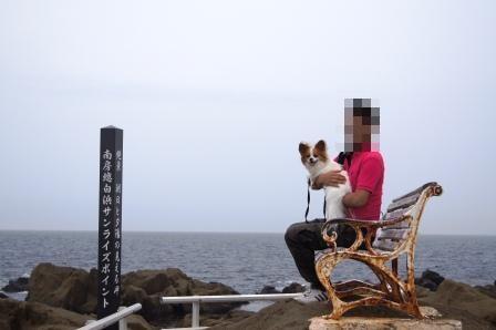 野島崎灯台絶壁にて