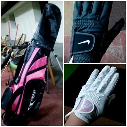 ゴルフバック&手袋