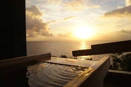 日の出の露天